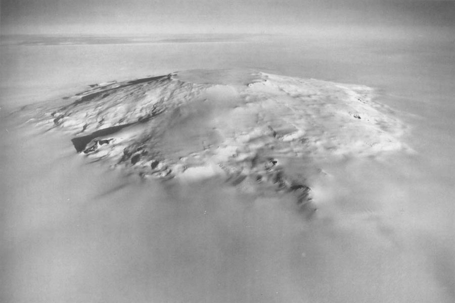 ვულკანის მასიური ამოფრქვევა ანტარქტიდაზე, რომელმაც სამხრეთ ნახევარსფეროს კლიმატის ცვლილება გამოიწვია