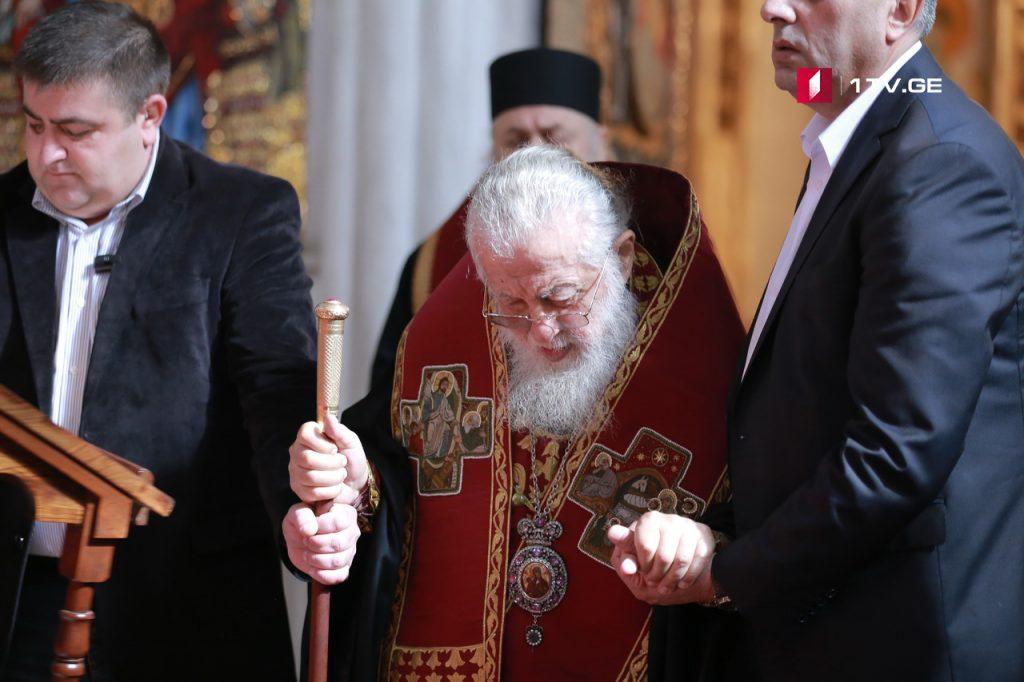 ილია მეორემ ბოდბისმონასტრის მთავარი ეკლესია უცხოელ ეპისკოპოსთან ერთად მოილოცა