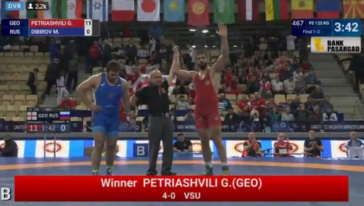ვიდეო - გენო პეტრიაშვილმა რუსეთის წარმომადგენელი დაამარცხა დაჩემპიონის ტიტული მოიპოვა