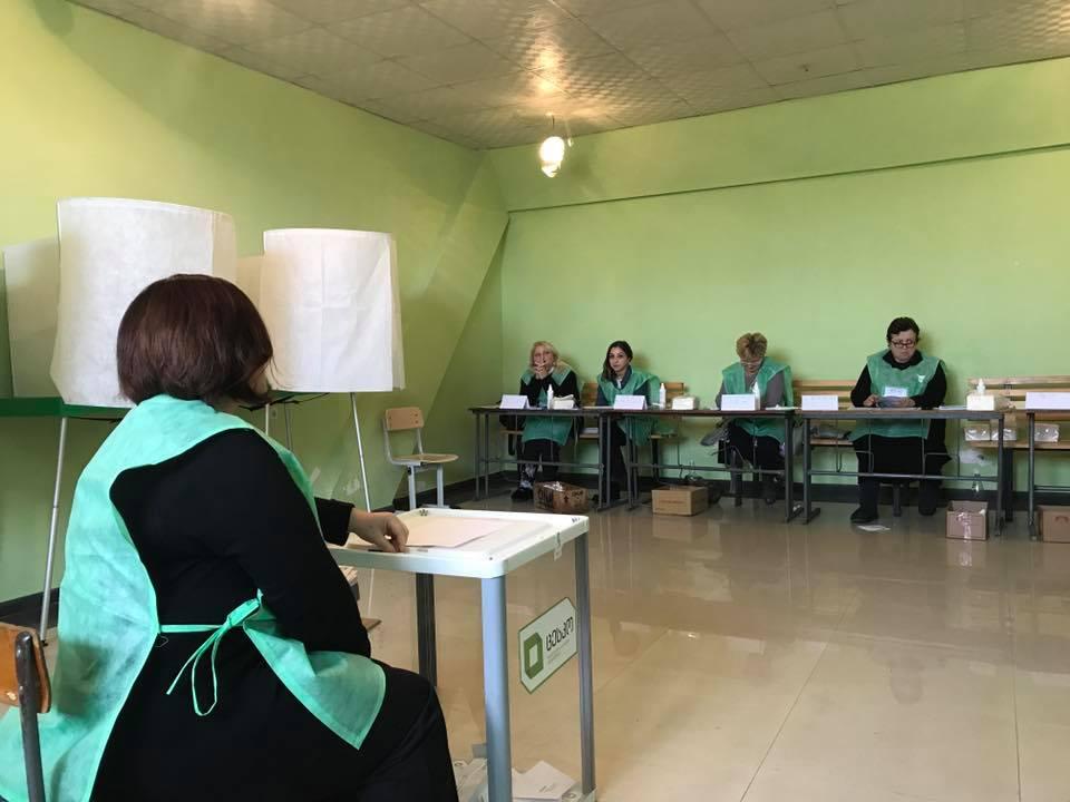 ქუთაისში, 124-ე საარჩევნო უბანზედარღვევა დაფიქსირდა