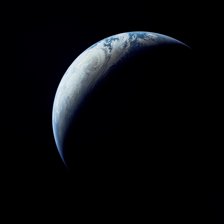 NASA-ს დღის ფოტო - 15 000 კმ-დან დანახული დედამიწა, 1967 წ.
