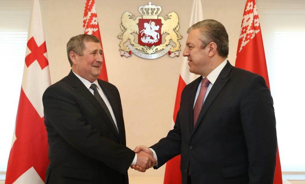 Гьaргь Квирикaшвили Белaруссиa Аҧызa-министр ихaҭыҧуaҩ диҧылеит