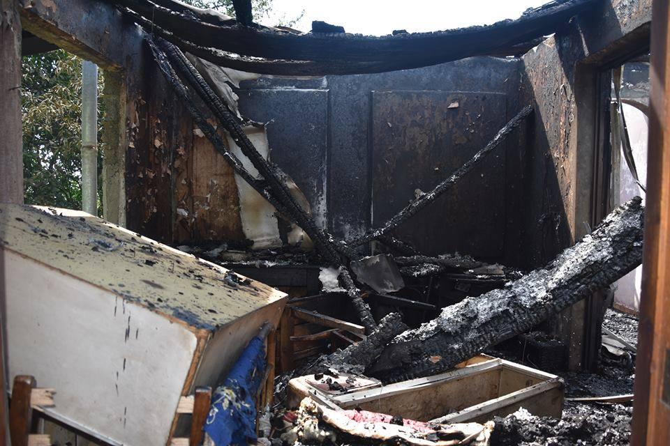 სოფელ ბასილეთში ხანძრის შედეგად ორსართულიანი სახლი დაიწვა