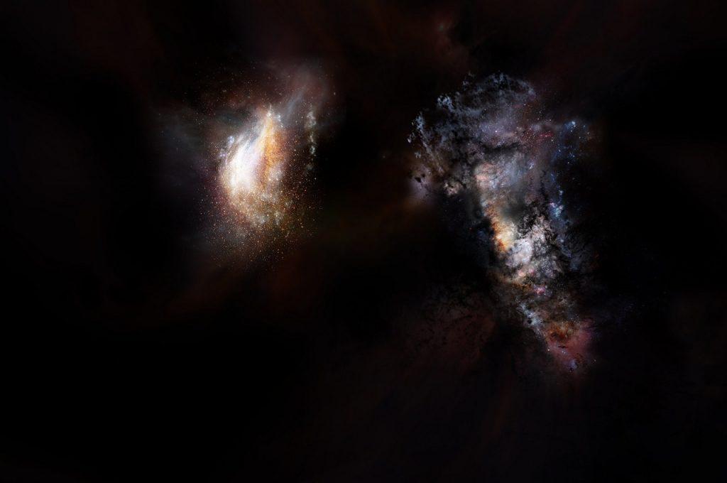 ბნელი მატერიის ვრცელ ოკეანეში, აღმოჩენილია ორი გიგანტური პირვანდელი გალაქტიკა