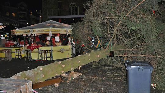 გერმანიაშისაშობაო ნაძვის ხე წაიქცა - დაშავებულია ხუთი ადამიანი