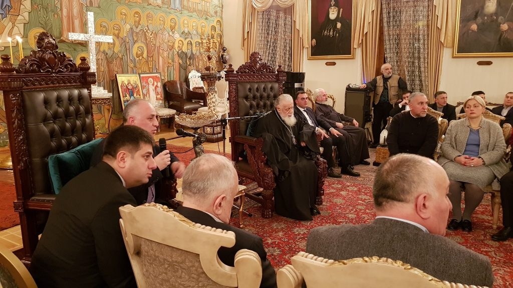 В рамках первого демографического форума проходит встреча с Патриархом