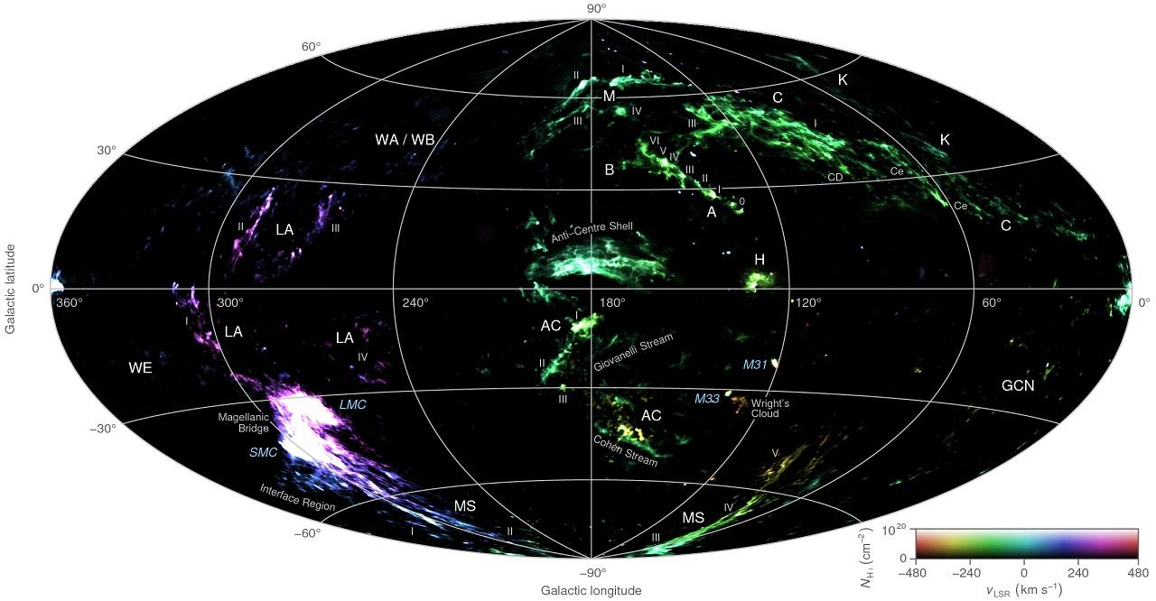 ირმის ნახტომის გარშემო, იდუმალებით მოცული წყალბადის ღრუბლები წარმოუდგენელი სისწრაფით დაჰქრის