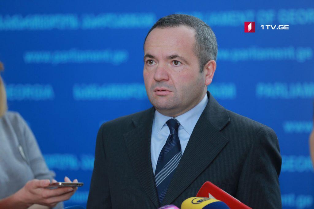 Зураб Чиаберашвили - Парламент поддержал предложение «Европейской Грузии» в связи с резолюцией о Татунашвили