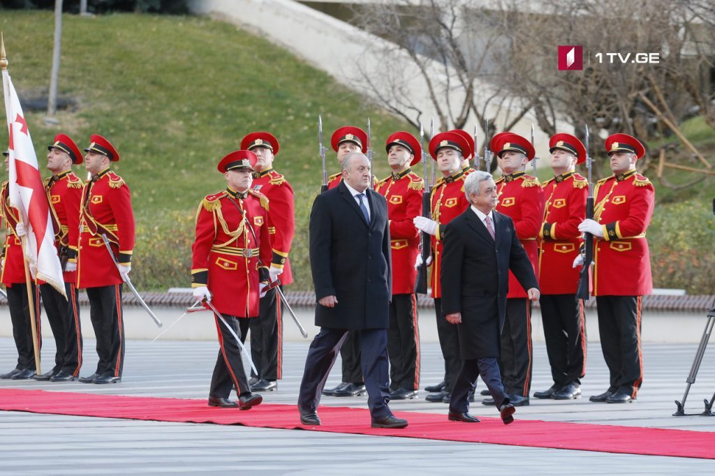 Welcome ceremony held for President of Armenia