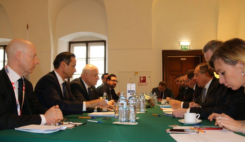 Гиги Церетели, в рамках министериала ОБСЕ, встретился с Сергеем Лавровым