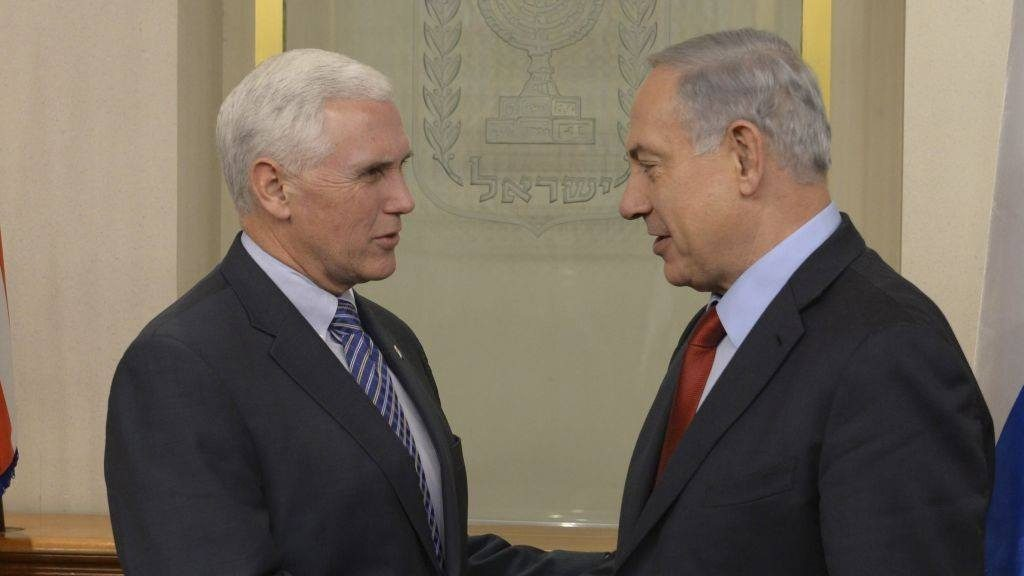 ისრაელის პრემიერ-მინისტრმა მაიკლ პენსს იერუსალიმის ისრაელის დედაქალაქად აღიარებისთვის მადლობა გადაუხადა