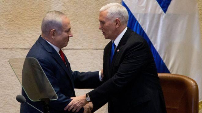 მაიკ პენსი -აშშ-ის საელჩო იერუსალიმში 2019 წლის ბოლომდე გადავა