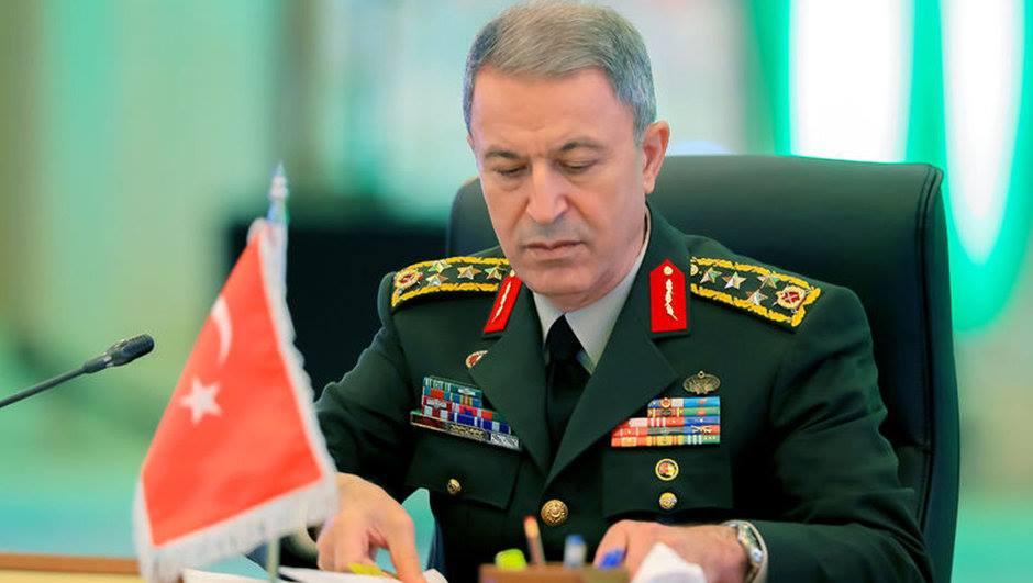 თურქეთის გენერალური შტაბის ხელმძღვანელი აცხადებს, რომ თურქეთი ამერიკის მხრიდან სირიელი ქურთების შეიარაღებას არ დაუშვებს
