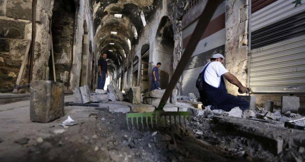 Suriyanın Homs şəhərində BMT bərpa işlərinə başladı