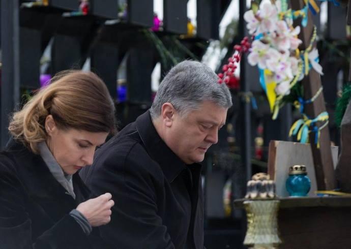 პეტრო პოროშენკომ 2014 წელს მაიდანზე გარდაცვლილების ხსოვნას პატივი მიაგო