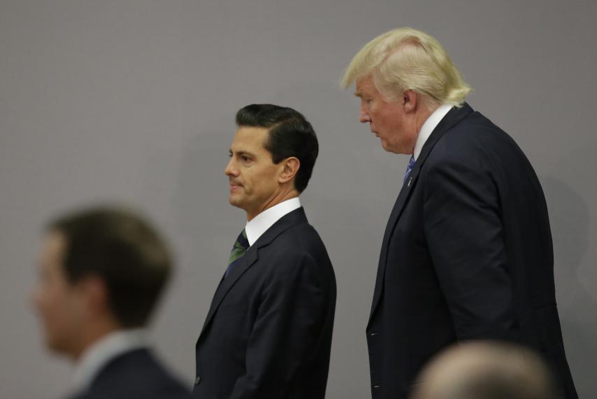 დონალდ ტრაპი უახლოეს მომავალში მექსიკელ კოლეგას ენრიკე პენა ნიეტოს შეხვდება