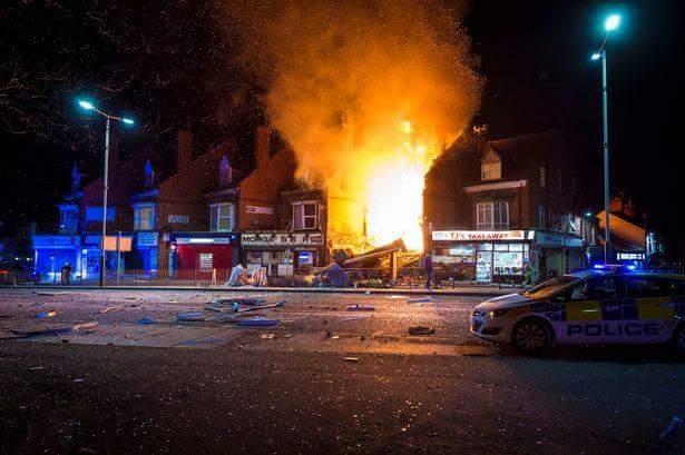 ინგლისის ქალაქ ლესტერში ძლიერი აფეთქების შედეგად ხუთი ადამიანი დაშავდა