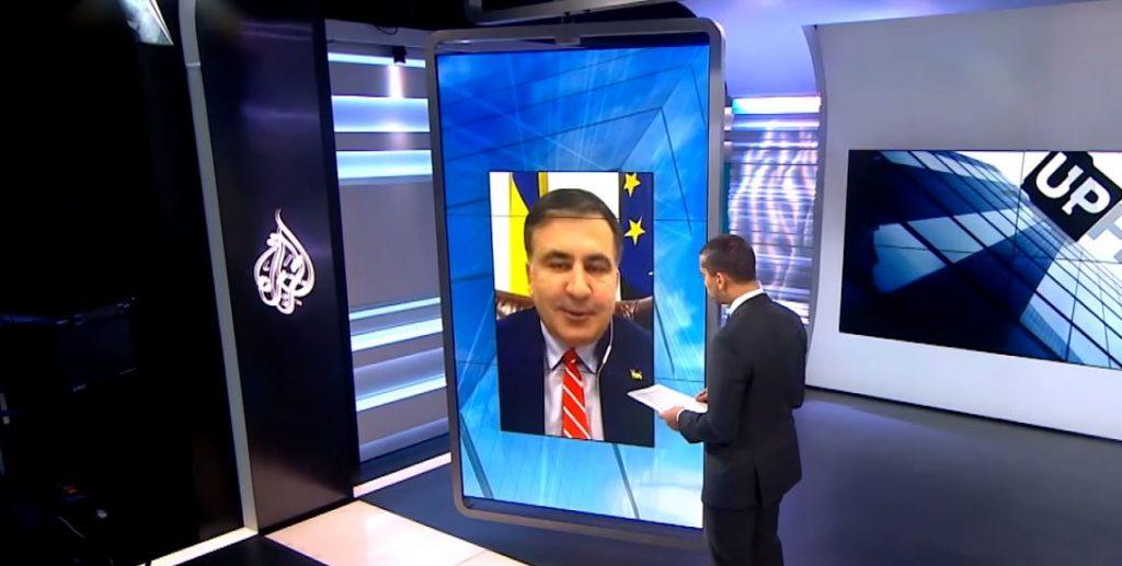Al Jazeera-სჟურნალისტი სააკაშვილს - უკრაინაში თქვენი პარტიის რეიტინგი მხოლოდ ერთი პროცენტი იყო, ერთი პროცენტი