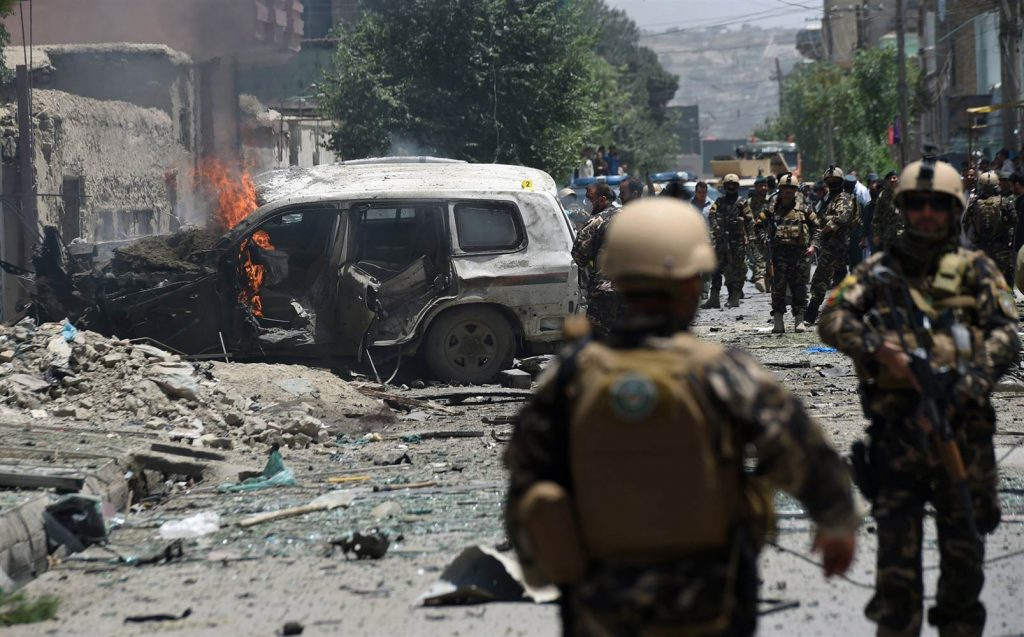Explosion rocks Kabul, near US Embassy and NATO headquarters