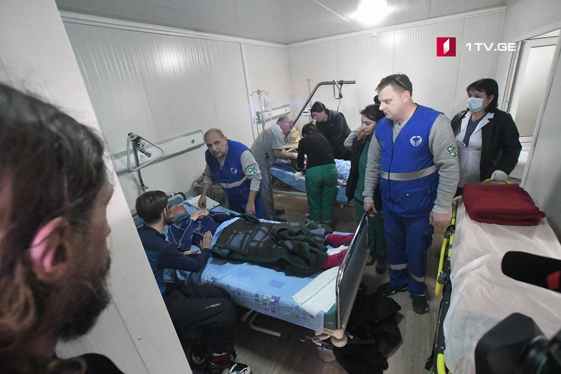 ჯანდაცვის სამინისტროს ინფორმაციით,გუდაურში 11 ადამიანი დაშავდა