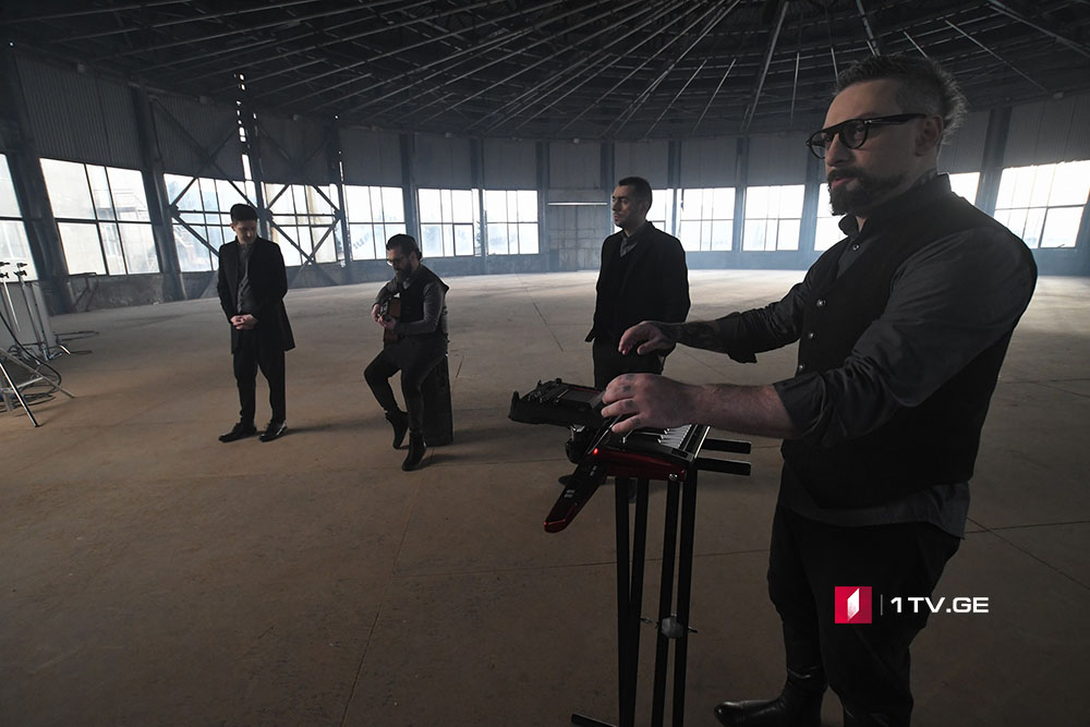 """Video Clip on entry song of Group """"Iriao"""" being shot in Saguramo"""