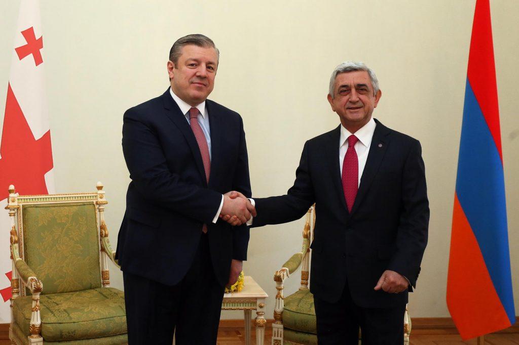 Георгий Квирикашвили встретился с Сержем Саргсяном
