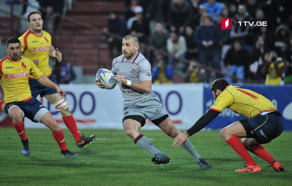 Georgian Rugby team defeated Spain with score 23:10