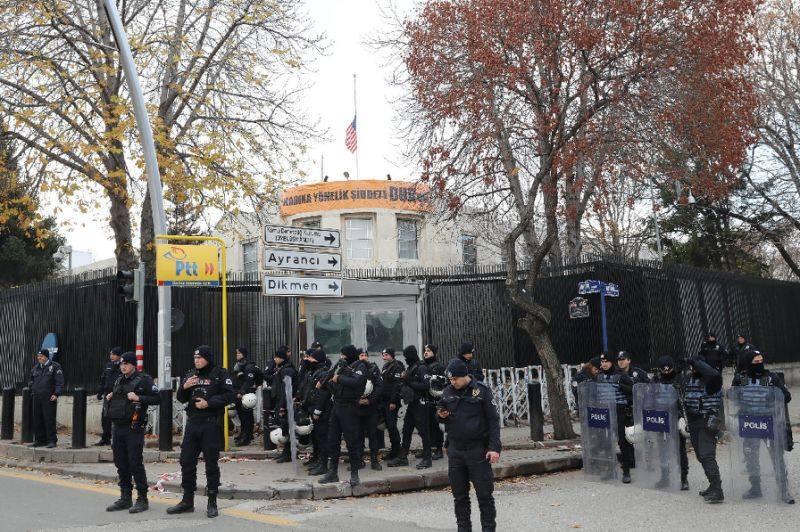 ABŞ-ın Ankaradaki səfirliyi, təhlükəsizlik tədbirlərinə görə, bu gün işləməyəcək