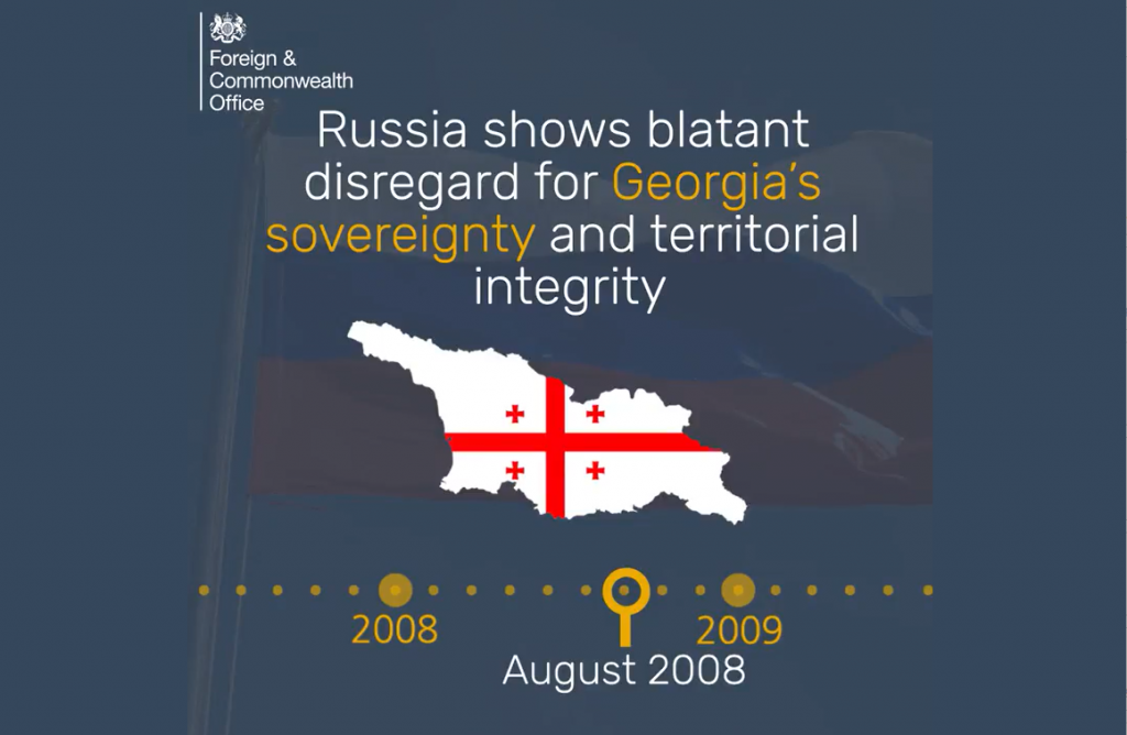 UK Foreign Office releases video about pattern of Russian aggression