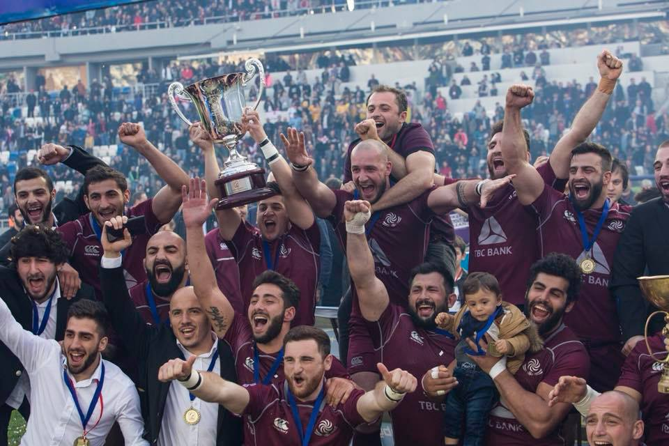 Georgian National Rugby Team won Rugby Europe Championship