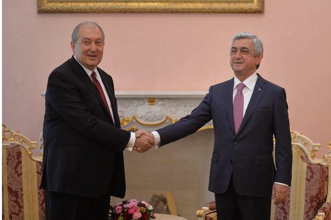 Արմեն Սարգսյանը ստորագրել է Սերժ Սարսգսյանին վարչապետ նշանակելու հրամանը