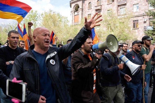 В Армении проходят акции протеста (фото)
