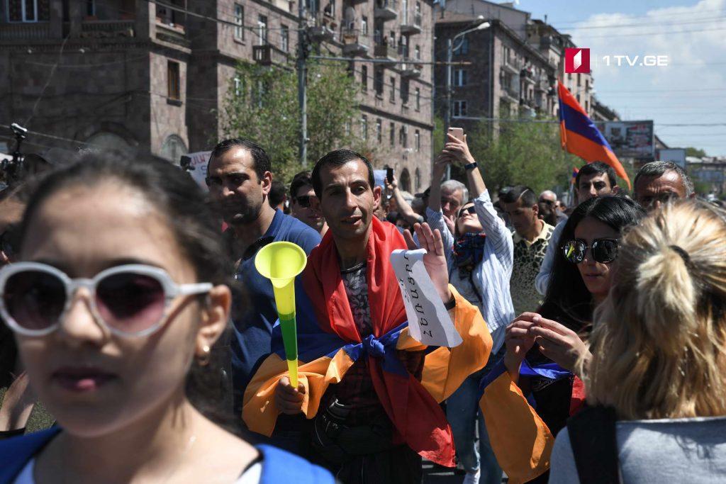 Երևանում շարունակվում են բողոքի ցույցերը - ֆոտոշարք