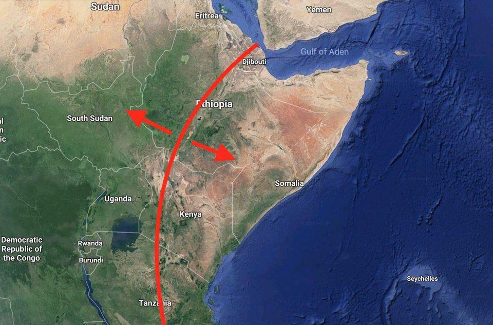 აფრიკაში მოულოდნელად უზარმაზარი ნაპრალი გაჩნდა - კონტინენტი ორად იყოფა
