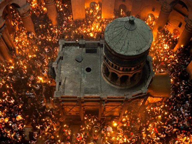 Christian Orthodox World witnesses miracle of holy fire descending at Savior's tomb