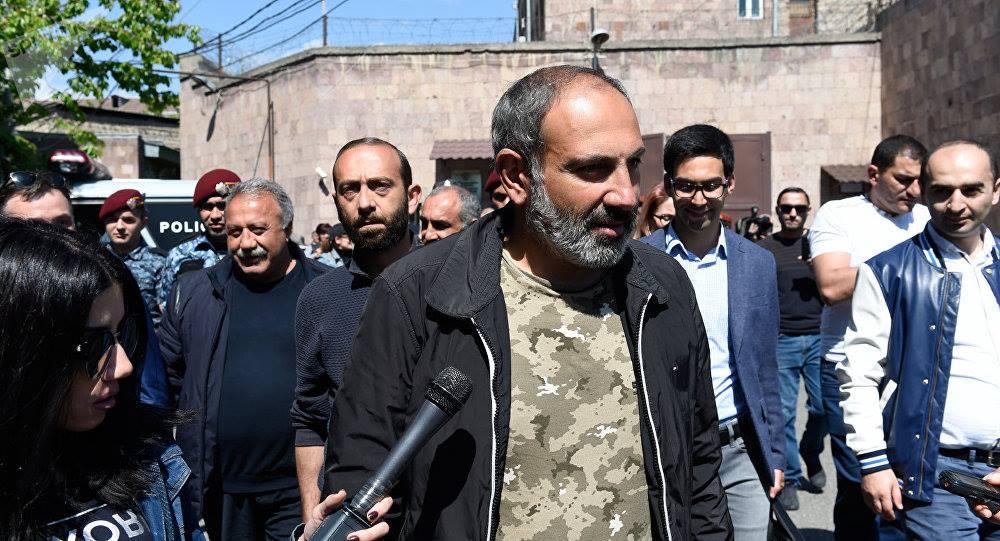 Armenian Protest Leader NikolPashinan Released