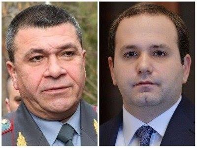 ՀՀ նախագահը պաշտոնից ազատել է ոստիկանապետ Վլադիմիր Գասպարյանին և ԱԱԾ ղեկավար Գեորգի Կուտոյանին