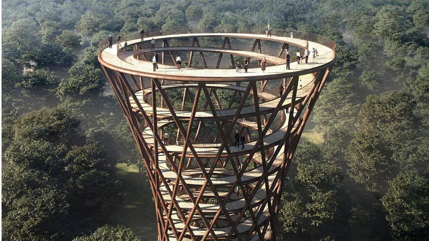 დანიაში ხის ცათამბჯენი აშენდა