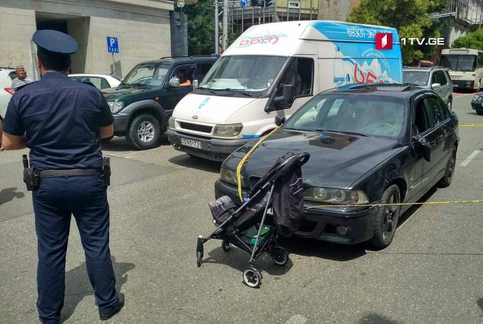 Car hit woman in Kutaisi