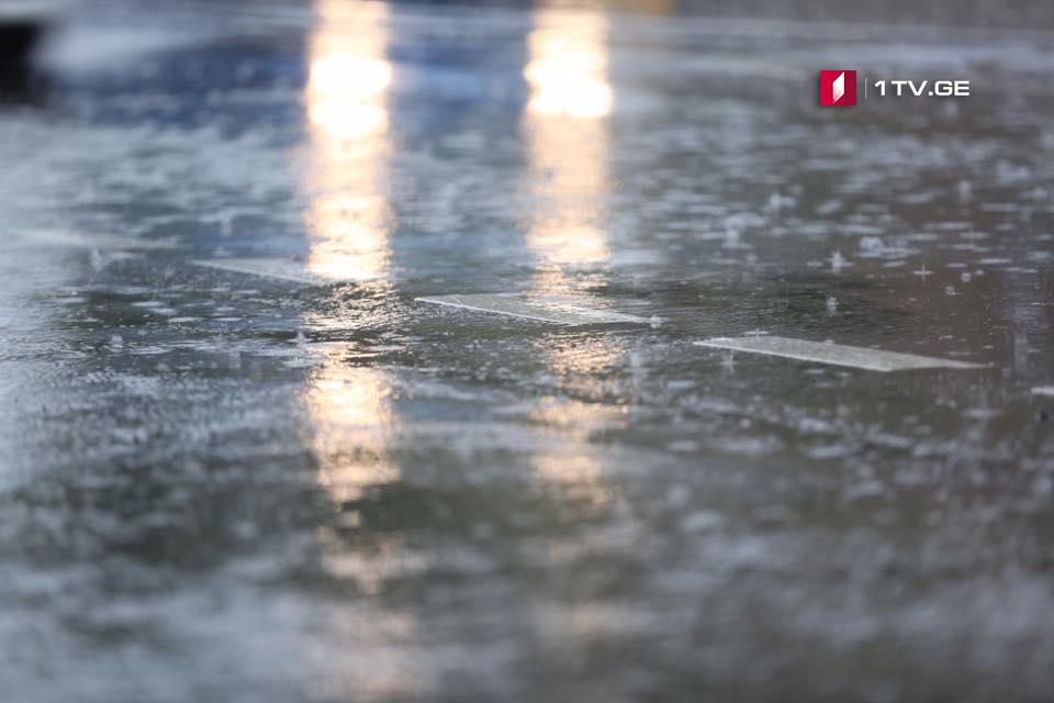 დღეს საღამოდან 6 ივნისამდე საქართველოში წვიმა, ძლიერი ქარი და სეტყვაა მოსალოდნელი