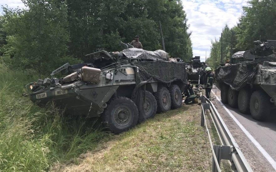 В Литве столкнулись два американских бронетранспортера, которые принимают участие в учениях НАТО