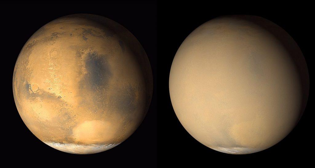 მარსზე ქვიშის შტორმი მძვინვარებს - NASA ფოტოებს აქვეყნებს