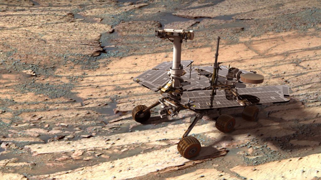NASA-ს მარსმავალი Opportunity წითელ პლანეტაზე ქვიშის მძვინვარე შტორმს ებრძვის
