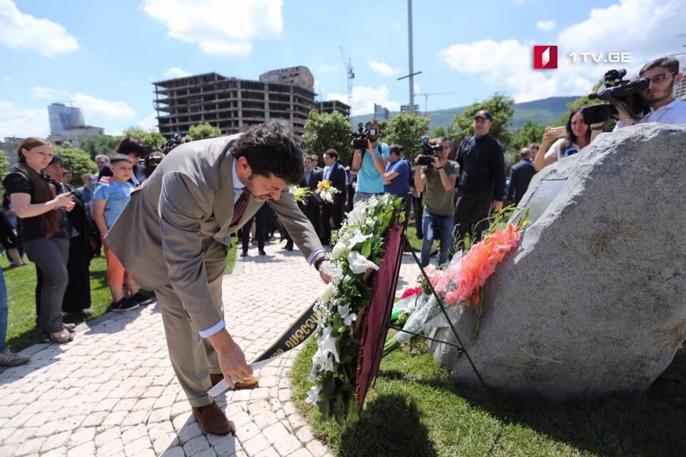 კახა კალაძემ 13 ივნისის სტიქიის შედეგად დაღუპულთა მემორიალი გვირგვინით შეამკო