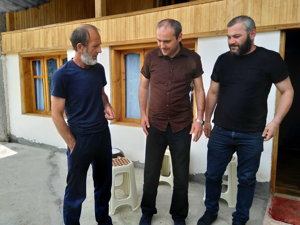 Звиад Куправа и Заза Саралидзе приехали в Панкисское ущелье