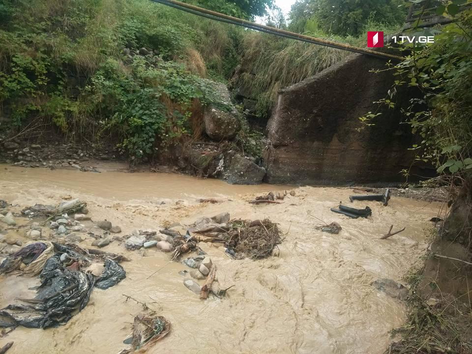 გურჯაანის მუნიციპალიტეტის რამდენიმე სოფელში, ძლიერმა წვიმამ გზები დააზიანა