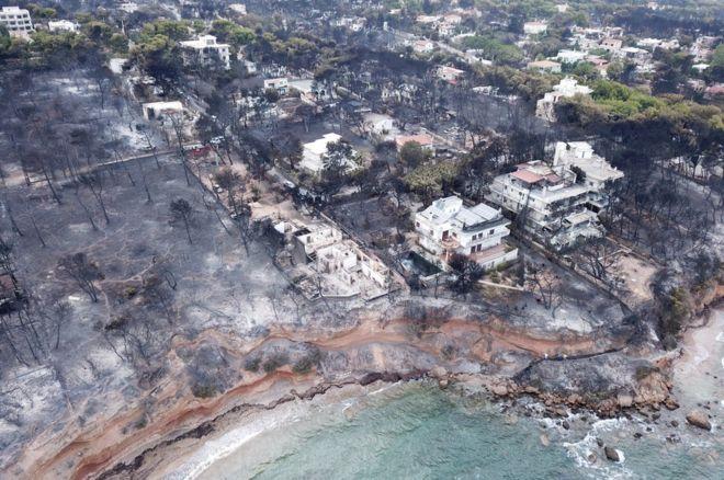 საბერძნეთის თავდაცვის მინისტრი ხანძრის მძიმე შედეგებს უკანონო მშენებლობებს აბრალებს
