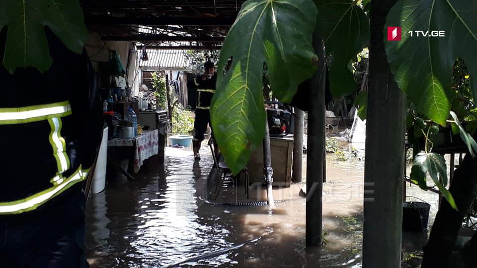 Сильные дожди нанесли ущерб селам Херетискари, Цители Гори и Чиаури муниципалитета Лагодехи (фото)