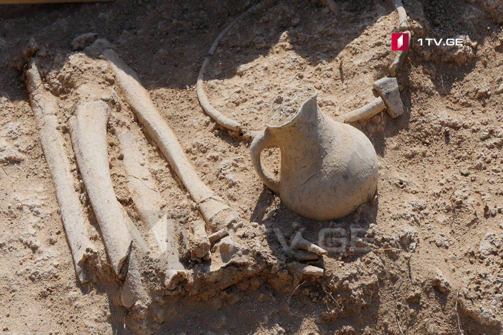 დუშეთის მუნიციპალიტეტის სოფელ ციხევდავში ძვ.წ.აღ.-ის პირველი საუკუნის სამაროვანი აღმოაჩინეს [ფოტო]