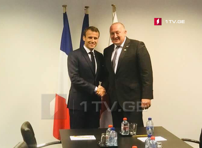 President Margvelashvili met President Macron